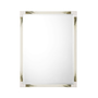 Cutting Edge Wall Mirror (Longhorn White)