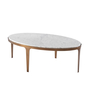 Gennaro Oval Marble Cocktail Table