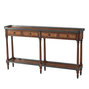 The Louis XVI Leather Console Table