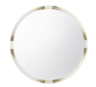 Cutting Edge Mirror (Round, Longhorn White)