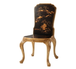 Gilt Bellflower Accent Chair