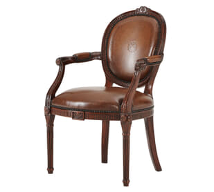 A hand carved Neo-classical open armchair after Adam