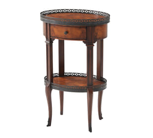 Delicate and Pierced Accent Table