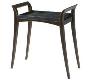 Burnished Black Accent Table