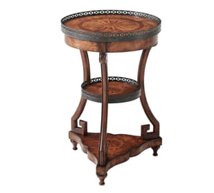 Parquestry Compasses Accent Table
