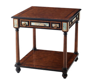 Turquoise Encounter Side Table