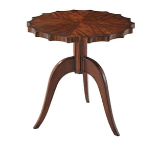 Modern Piecrust Accent Table