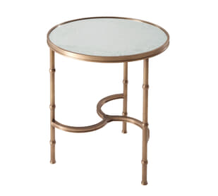 Brass All Around Side Table
