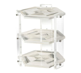 Quadrilateral Tiers Side Table