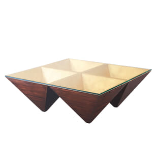 Pyramidal Points Cocktail Table