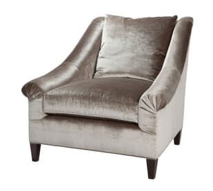 Marquette Loose Back Exposed Leg  Chair