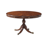 A mahogany circular breakfast / dining table