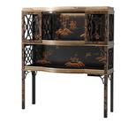 Chocolate Garden Bar & Curio Cabinet