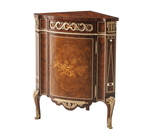 A finely inlaid corner cabinet