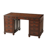 Edwardian Gentleman's Pedestal Desk