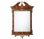 The India Silk Bedroom Wall Mirror