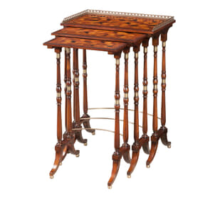 The South Drawing Room Parquetry Nest of Tables