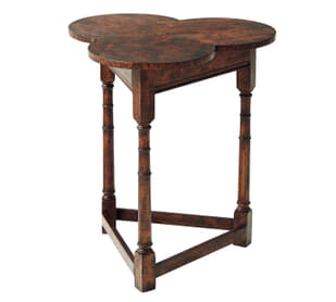 Oak Clover Accent Table