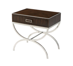 half-moon side table