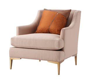 Elaine Armchair (Brushed Brass)