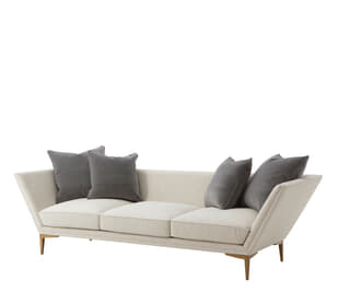 Lorne Sofa (Brushed Brass)