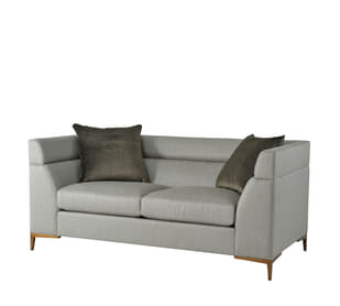 Boystown Love Seat (Brushed Brass)