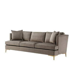Small Lisette Sofa (Brass)