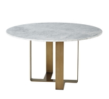 Adley Marble Round Dining Table