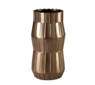 Basket Metallic Bronze Large Vase
