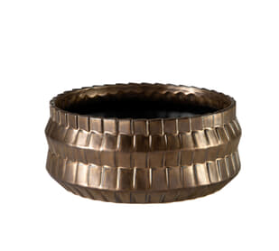 Basket Metallic Bronze Bowl