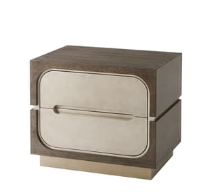 Oomph Side Table (Crackled Silver)