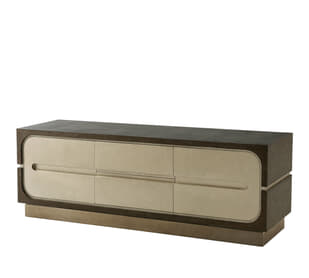 Oomph TV Console (Crackled Silver)